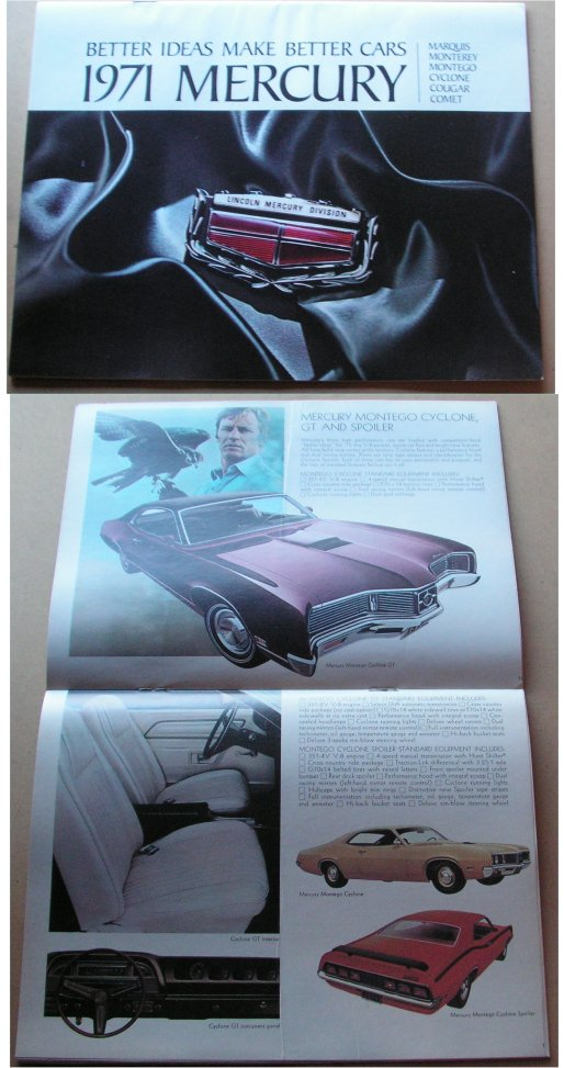 MERCURY 1971 SALES BROCHURE COUGAR CYCLONE MARQUIS