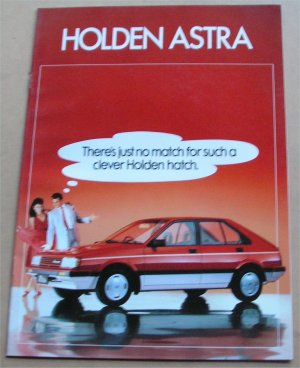 HOLDEN ASTRA 1986 SEPTEMBER SALES BROCHURE