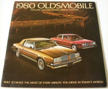 OLDSMOBILE 1980 BROCHURE CUTLASS CRUISER OMEGA STA