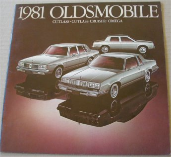 OLDSMOBILE 1981 BROCHURE CUTLASS CRUISER OMEGA