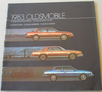 OLDSMOBILE 1983 CUTLASS SALES BROCHURE