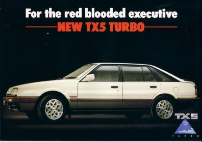 FORD TELSTAR TX5 TURBO 1985 1986 SALES BROCHURE