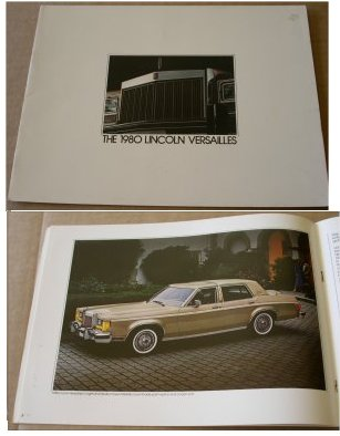 LINCOLN VERSAILLES 1980 SALES BROCHURE