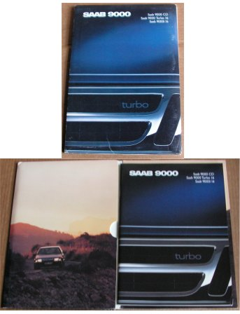 SAAB 9000 1988 CD 9000i 16 TURBO 16 BROCHURE