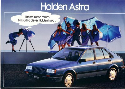 HOLDEN ASTRA 1986 SALES BROCHURE