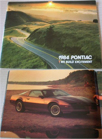 PONTIAC 1984 BROCHURE FIERO FIREBIRD TRANS AM