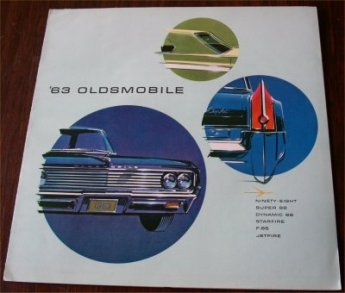 OLDSMOBILE 1963 BROCHURE CUTLASS SUPER NINETY 88
