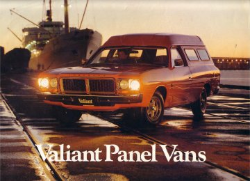 VALIANT 1977 CL 318 265 245 PANEL VAN SALES BROCHURE