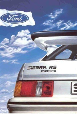 FORD SIERRA RS COSWORTH 1986 SALES BROCHURE