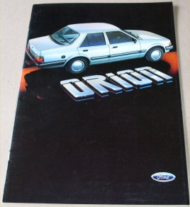 FORD ORION 1983 SALES BROCHURE