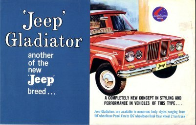 JEEP GLADIATOR 1960s  AUSTRALIAN SALES BROCHURE