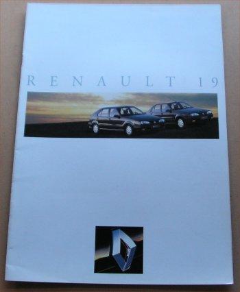 RENAULT 19 1992 SALES BROCHURE