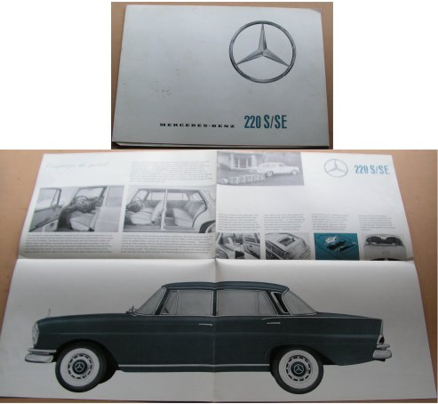 MERCEDES-BENZ 1962 220S 220SE SALES BROCHURE