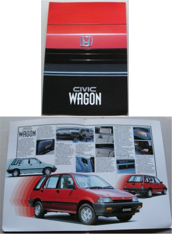 HONDA CIVIC 1984 WAGON SALES BROCHURE