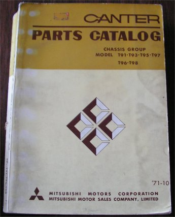 MITSUBISHI CANTER TRUCK 1972 PARTS BOOK T91 T93 T95 T97 T98
