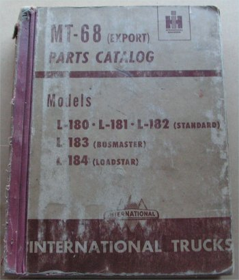 INTERNATIONAL IH L180 L181 L182 L183 L184 PARTS BOOK