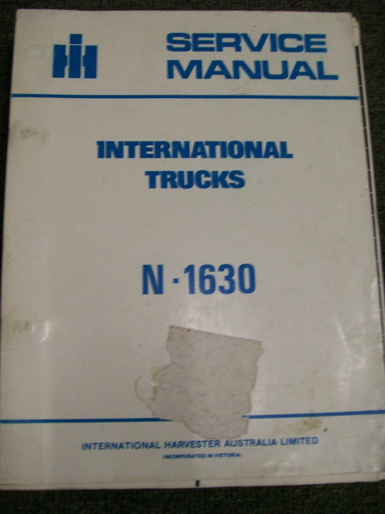 INTERNATIONAL HARVESTER N1630 TRUCK SERVICE REPAIR MANUAL