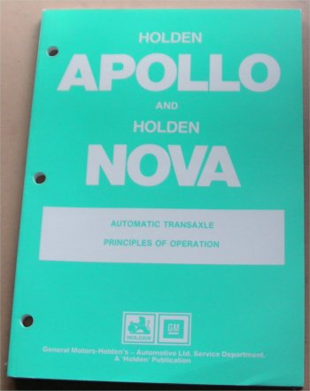 HOLDEN APOLLO 1990 NOVA COROLLA AUTO TRANSAXLE MANUAL