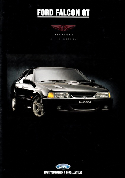 EB FALCON 1992 TICKFORD EB GT ORIG NEW NOS SALES BROCHURE