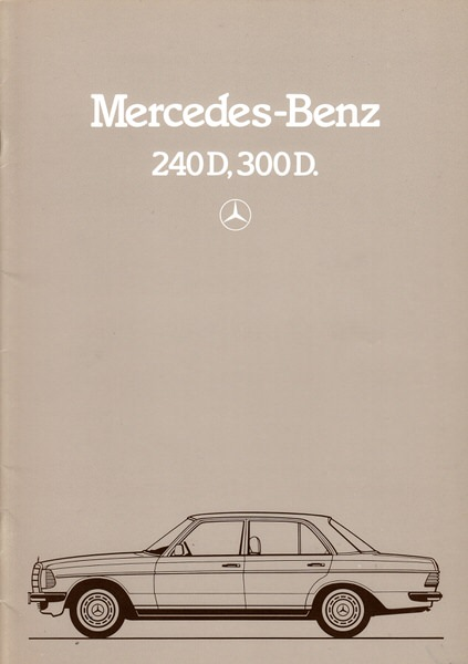 MERCEDES BENZ 1982 1983 200D 240D 300D SALES BROCH
