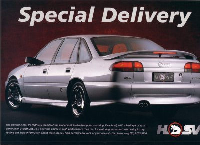 HOLDEN HSV VS 1996 BROCHURE SENATOR CLUB SPORT MANTA MALOO GRANG
