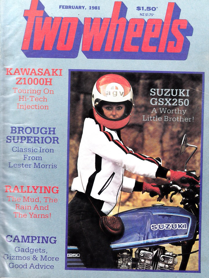 TWO WHEELS MAGAZINE 1981/02 BROUGH SUPERIOR KAWASAKI Z1000H