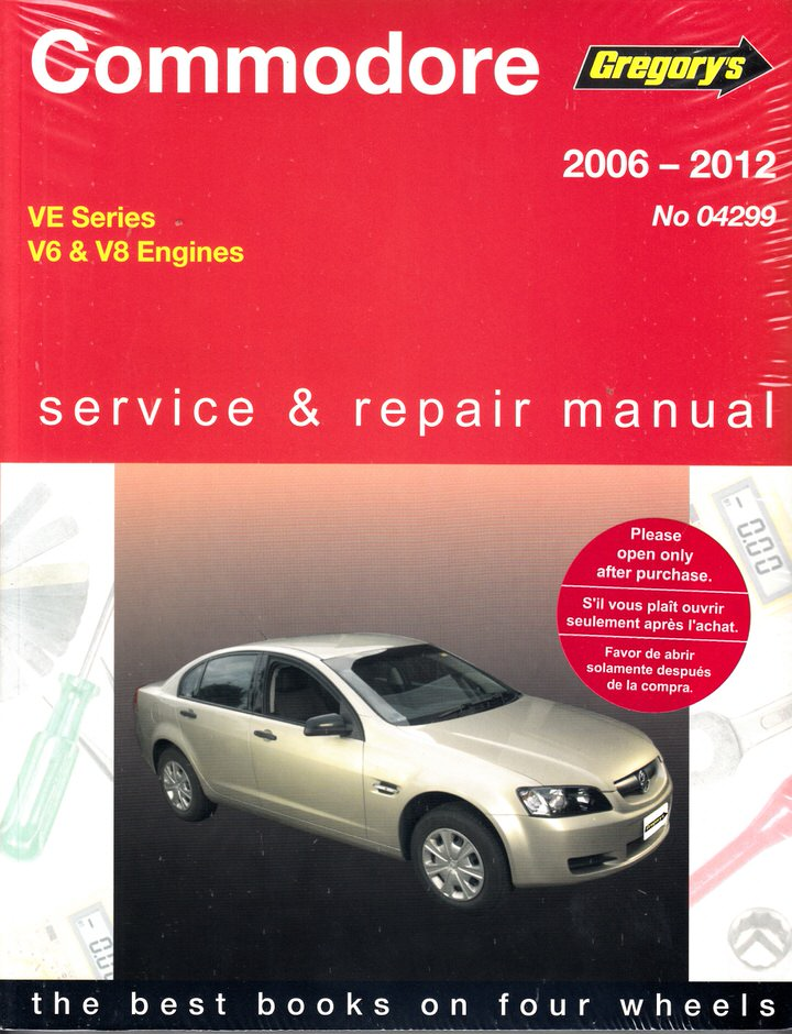 VE COMMODORE REPAIR MANUAL 2006 TO 2012 6.0 6.2 3.6 3.0