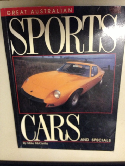 GREAT AUSTRALIAN SPORTS CARS & SPECIALS BOOK BOLWELL