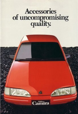 HOLDEN CAMIRA 1984 ACCESSORIES SALES BROCHURE