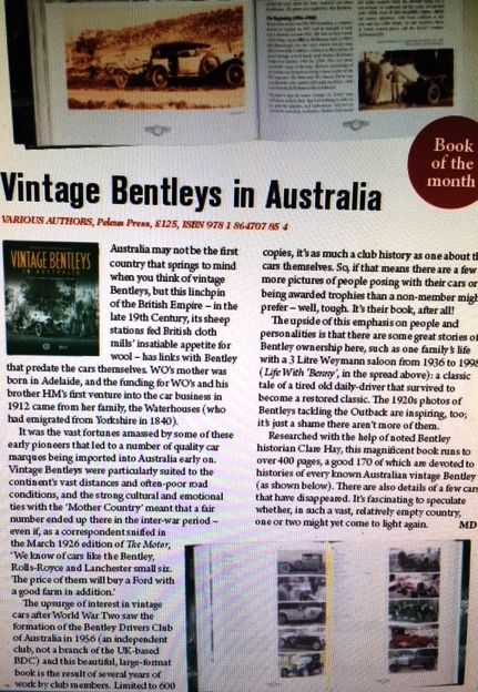 Vintage Bentleys in Australia Bentley Drivers Club of Australia  - Click Image to Close