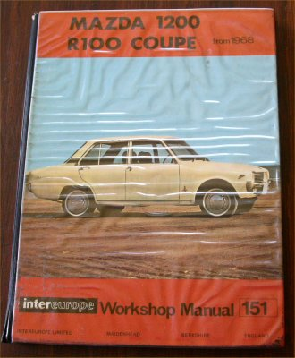 MAZDA R100 AND 1200 WORKSHOP MANUAL