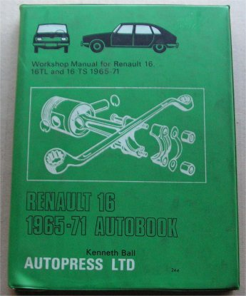 RENAULT 16 1965-71 TL TS WORKSHOP MANUAL
