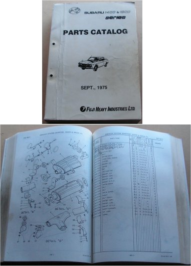 SUBARU 1975 1976 1400 1600 PARTS CATALOGUE