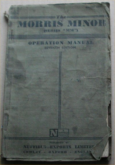 MORRIS MINOR 1952 MM ED 7 ORIGINAL OWNERS MANUAL
