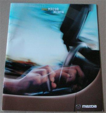 MAZDA MIATA 2002 SALES BROCHURE MX5