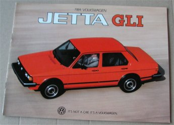 VW JETTA 1984 SALES BROCHURE