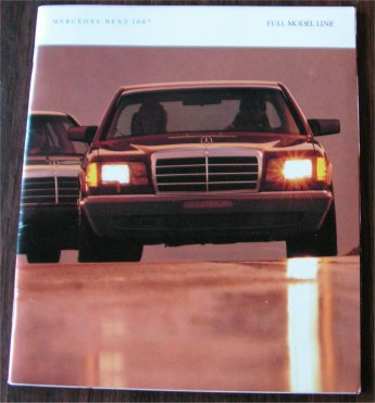 MERCEDES BENZ 1987 BROCHURE 560SEC 560SL