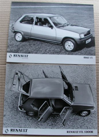 RENAULT 5TS 5TL PRESS PHOTOS R5