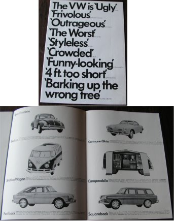 VW AROUND 1967 BROCHURE KARMANN GHIA MICRO BUS