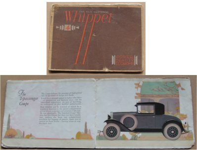 WHIPPET 1929  96A SALES BROCHURE ORIGINAL