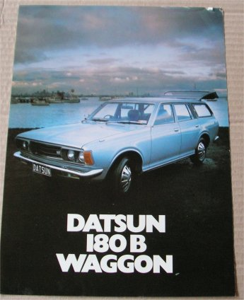 DATSUN 180B 1975 1976 WAGON SALES BROCHURE