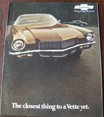 CHEVROLET CAMARO 1971 SALES BROCHURE Z28