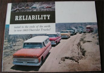CHEVROLET 1963 TRUCKS BROCHURE C10 C20 C30