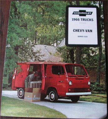 CHEVROLET 1966 G10 VAN SALES BROCHURE