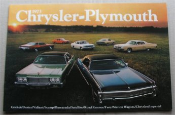 PLYMOUTH 1973 BROCHURE GTX ROAD RUNNER DUSTER BARR