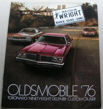 OLDSMOBILE 1976 BROCHURE TORONADO NINETY EIGHT DEL