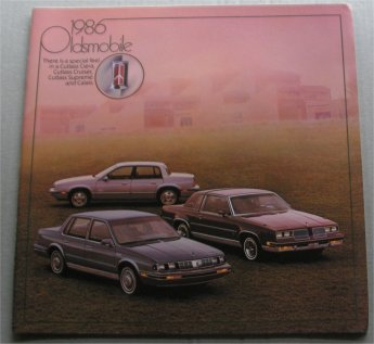OLDSMOBILE 1986 SALES BROCHURE