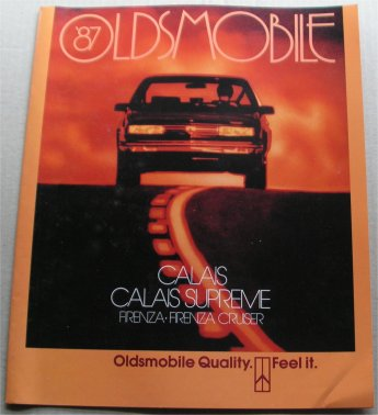 OLDSMOBILE 1987 BROCHURE FIRENZA CRUISER