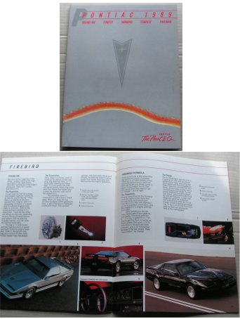 PONTIAC 1989 BROCHURE FIREBIRD TRANS AM