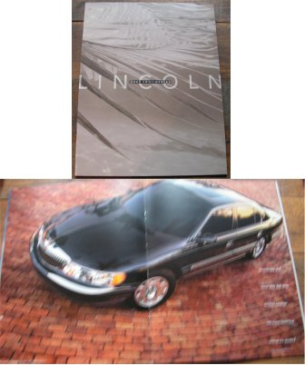 LINCOLN CONTINENTAL 2002 SALES BROCHURE